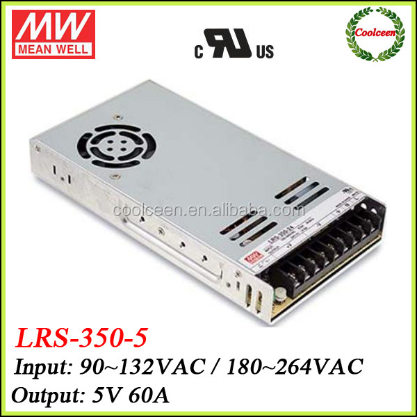 Meanwell LRS-350-5 300w adjustable dc power supply 5v 60a