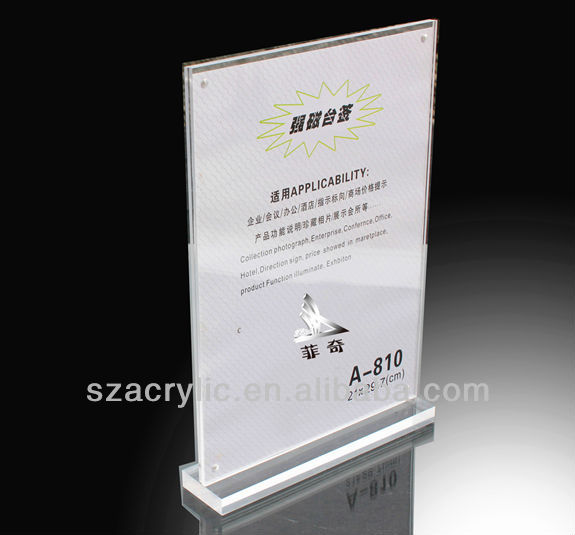 acrylic magnet price display