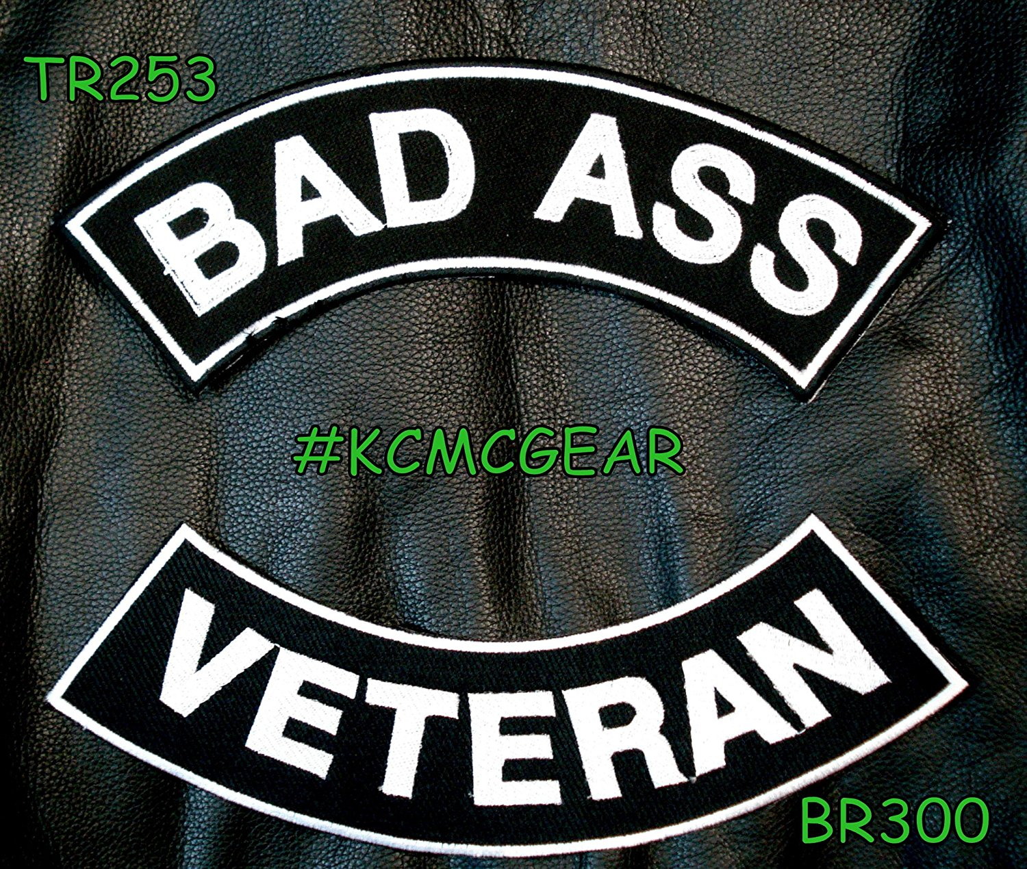Military Biker Patch Set Bad Ass Veteran Embroidered Patches Sew on Patches for Jackets