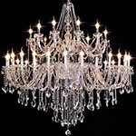 Custom-made living room bedroom modern K9 crystal candle chandeliers supplier