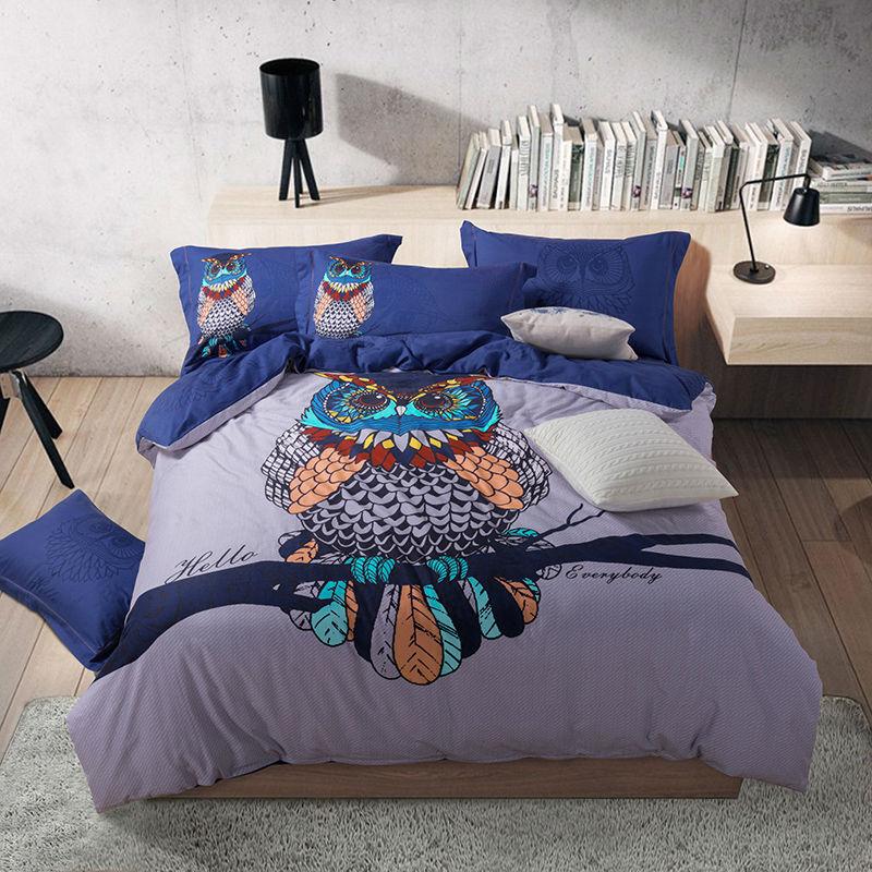 vente en gros housse de couette chouette d 39 excellente qualit de grossistes chinois housse de. Black Bedroom Furniture Sets. Home Design Ideas