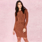 2019 new fashion lady Autumn long sleeve bandage slim dress solid color rayon elegant dresses for women
