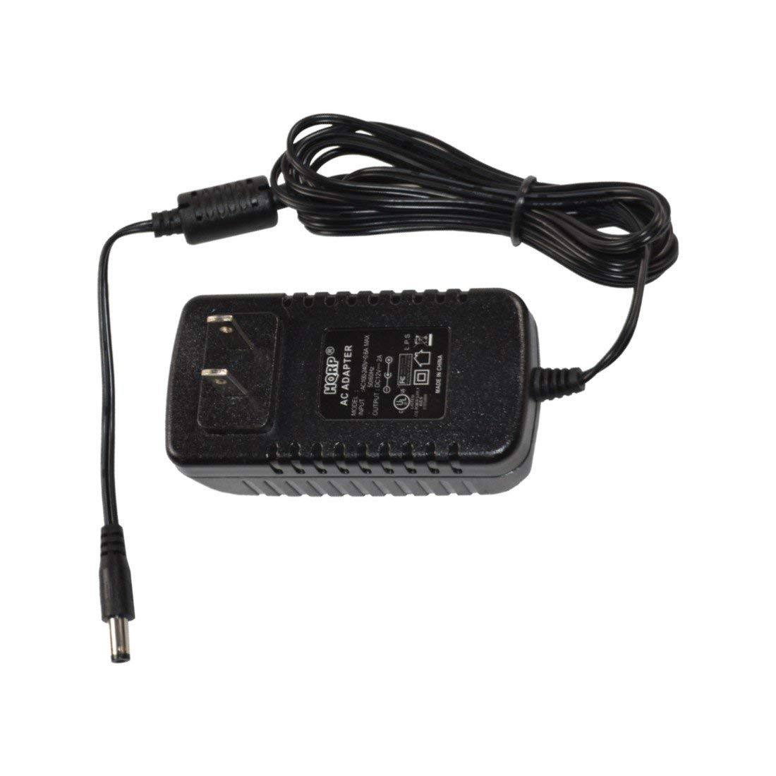 HQRP 12V AC Adapter/Power Supply for SWANN PRO-580 - Multi-Purpose Day/Night Security Camera - Night Vision 65ft / 20m; SWPRO-580CAM [UL Listed] Plus HQRP Euro Plug Adapter