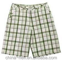Men's yarn dyed Cotton plaid shorts