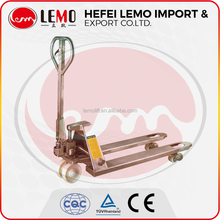 Low price all #304 Stainless steel material Hand pallet truck