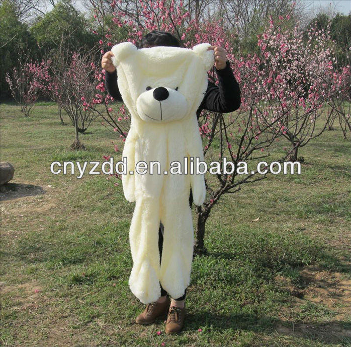 Wholesale free sample Unstuffed Plush Animals giant teddy bear 200cm skin