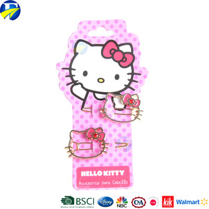 FJ brand best selling hello kitty girls hair clips kids metal hairpin accessories wholesale high quality baby hairclip