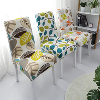 YRYIE Restaurant Stretch Printing Spandex Lycra Half Back Chair Covers For Home Decoration