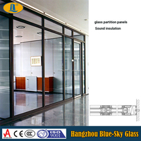 9mm office divider glass panels