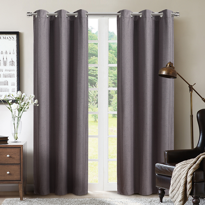 Eyelet or Grommet type 100% Polyester Absolute Zero Light Texture Solid sound proof  luxury curtains