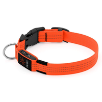 LED Dog Collar, USB Rechargeable Light Up Safety Pet Adjustable Soft Nylon Webbing, Great for Small Medium Large Dogs