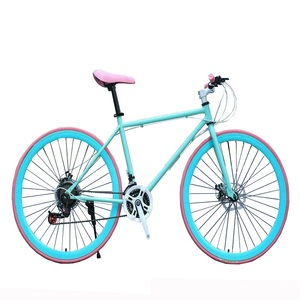 Colorful China Racing Bicycle Cycle Road Bike 700C Frame Fixed Gear Bike for Adults