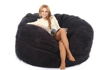 6FT cylinder Foam velet bean bag chair lazy sofa factory  sc 1 st  Alibaba & 6ft Cylinder Foam Velet Bean Bag Chair Lazy Sofa Factory - Buy 6ft ...