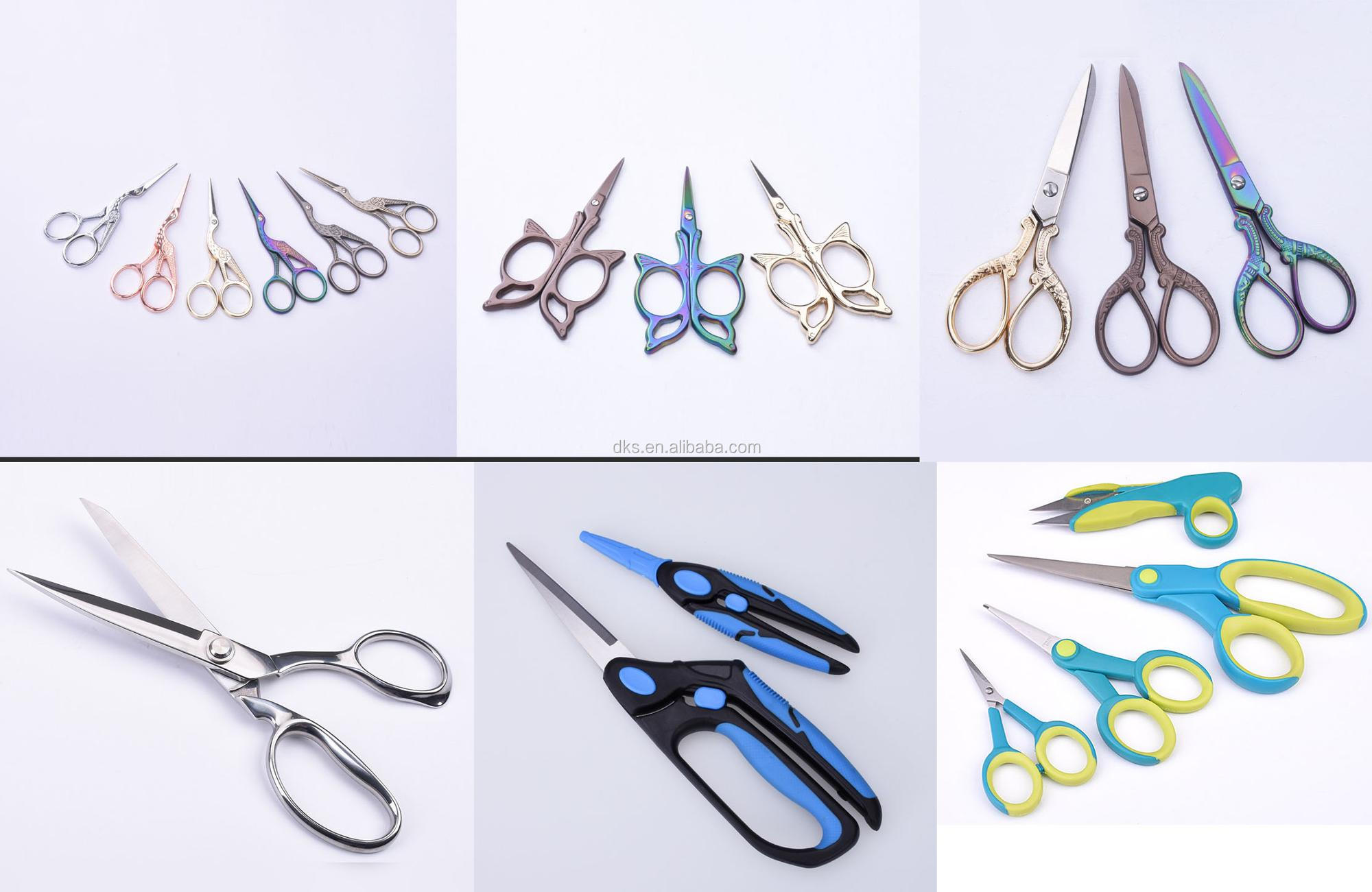 Large and heavy handle   full stainless steel Zig-Zag pinking shears
