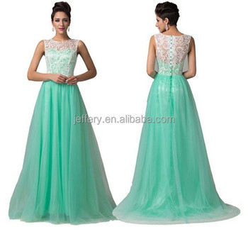 Fashion Wedding Dress Light Green Floor Length Dress With Lace A740 ...