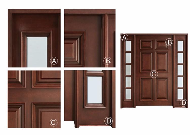 Porte In Legno Massello : Classe di stile europeo impiallacciatura in legno massello di