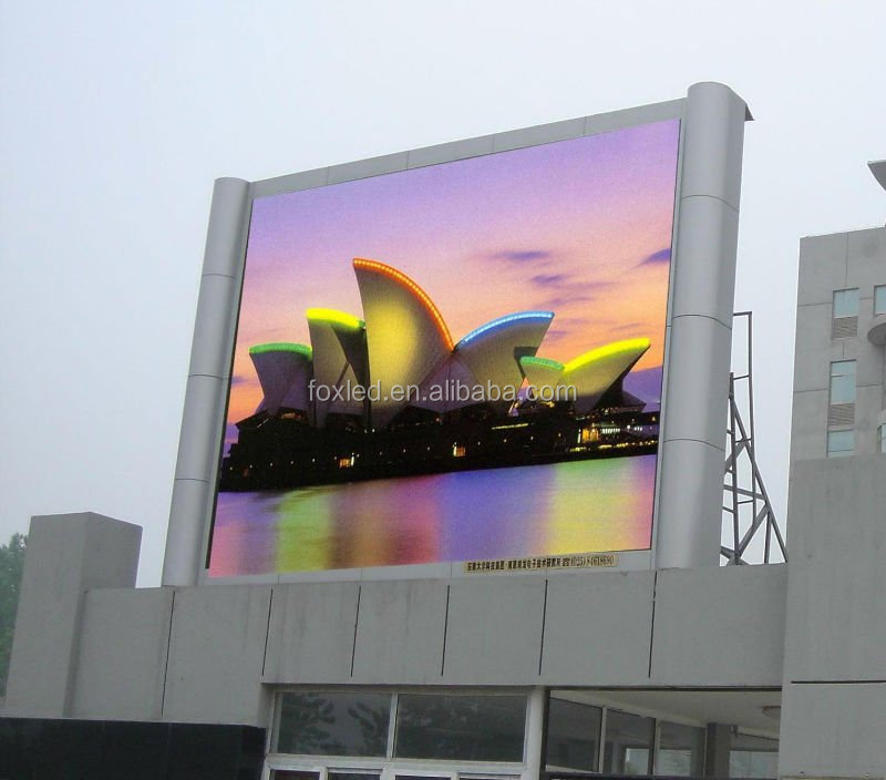 Pefect image P12 outdoor full color led display screen moving messages