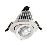 3years Warranty 7W 25W 35W COB LED Downlight Hi Lms CRI90 Adjustable Narrow angle 15D LED Recessed Down Light