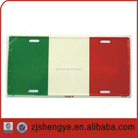 Italy Flag Aluminum reflective sheeting Auto License Plate