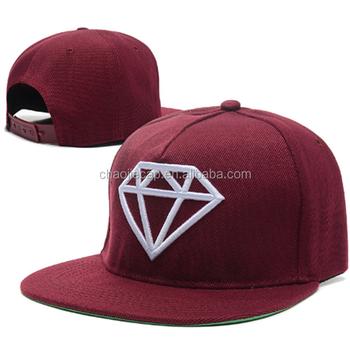 Diamond Embroidery Flat Cap Wholesale Snapback Hats Caps - Buy ... 89db9ef9920