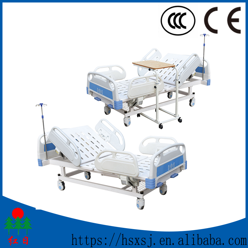 Movable adjustable folding medical bed with toilet