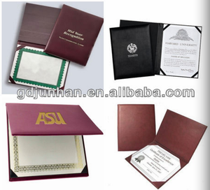 Graduation Diploma Certificate Holder And Cover High Quality Handcrafted Padded Diploma Cover