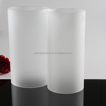 cheap elegant home decor straight line cylinder long indoors frosted wholesale glass lamp shade