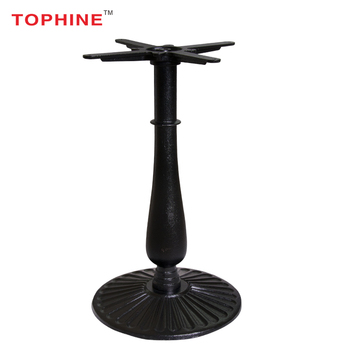 Commercial Contract Tophine Furniture Unique Metal Black Cast Iron Coffee Table Bases Only