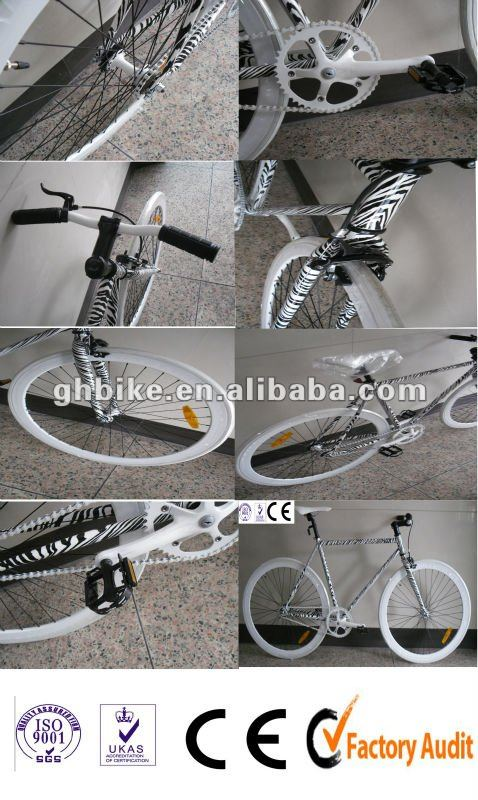 700c colourful zebra skin best sold CE fixed gear bike