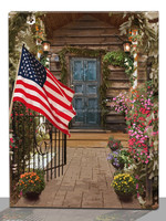 American flag led canvas prints, garden picture lighted canvas wall art indoor decor