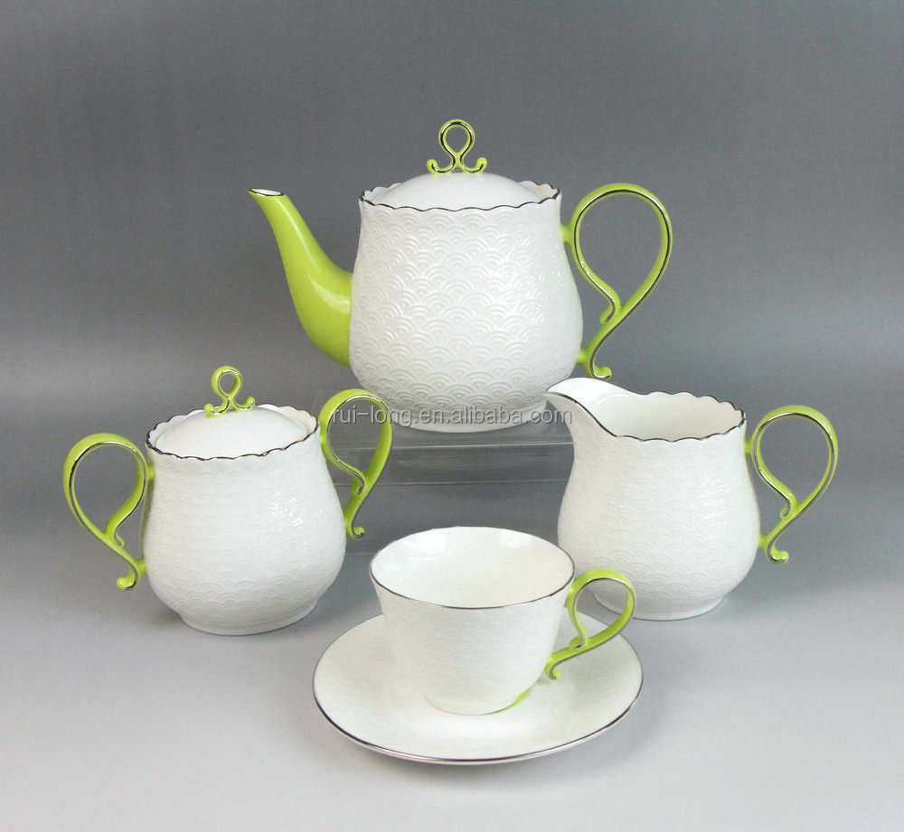 2015 New Product Ceramic Supplier Tea Sets For Adults