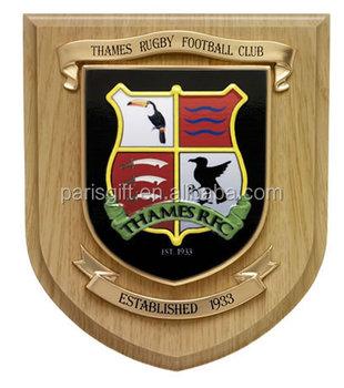 UAE Wood Plaque Award Shield Trophy With 3D Metal Eagle Design