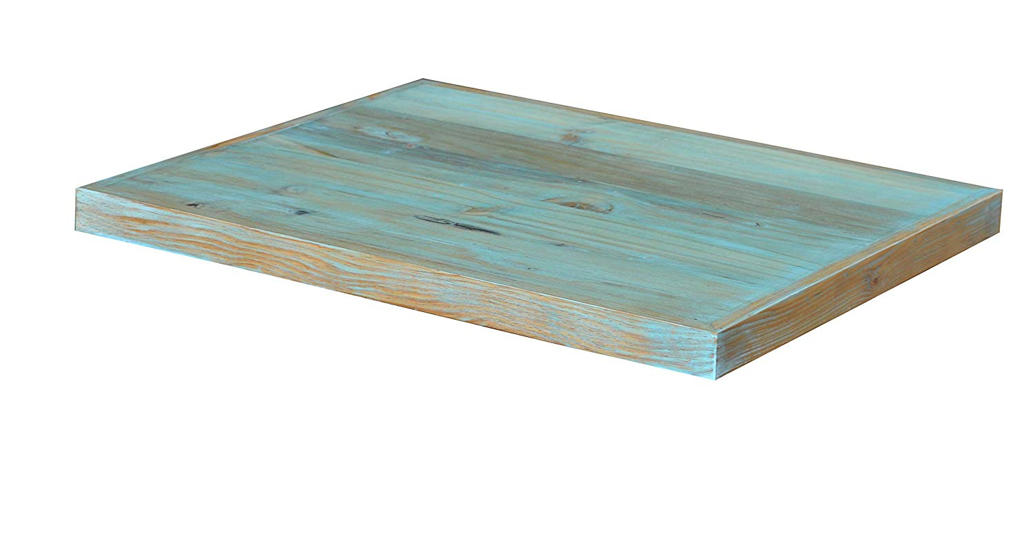Get Quotations Antique Rustic Reclaimed Wood Table Top 24 X 1 5 Turquoise