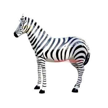 Amusement park garden ornaments products fiberglass zebra sculpture