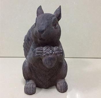 Resin Squirrel Garden Statue Small