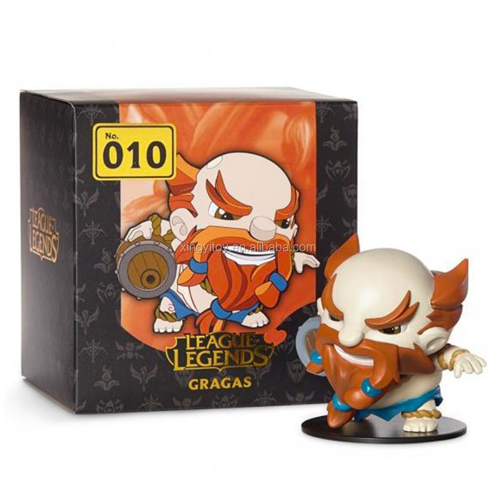 "NIB Game League of Legends LOL NO.010 GRAGAS The Rabble Rouser 4"" Toy Collectble game figures"