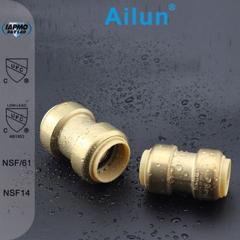 Brass Quick Pipe Fittngs Coupling Water Swivel Joint In Plumbing ...