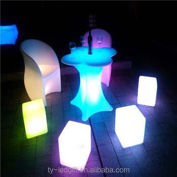 Illuminated Led Cube Chair Led Outdoor Light Cube Color Changing Led  Furniture