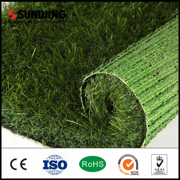 Chinese Artificial Grass For Garden With Fireproof Test