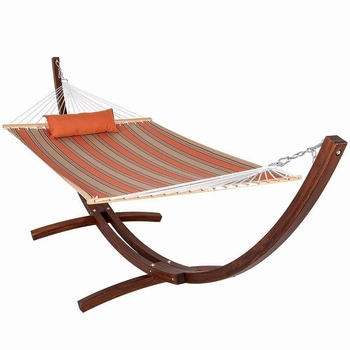 Beach Quilted 2 Person Double Hammock With Wood Frame Wooden Standwood Standspreader Bars And Pillow Buy Hammock With Wood Framehammock With