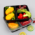 pp plastic tray with three compartment for food packaging