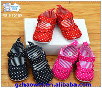 Ballet style baby cloth shoes