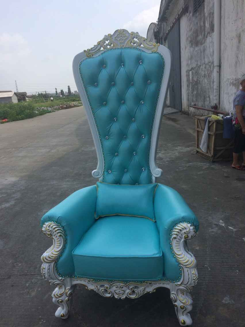 Antique high back chairs - Antique Royal Silver Gold Stroke King Queen High Back Wooden Throne Chair