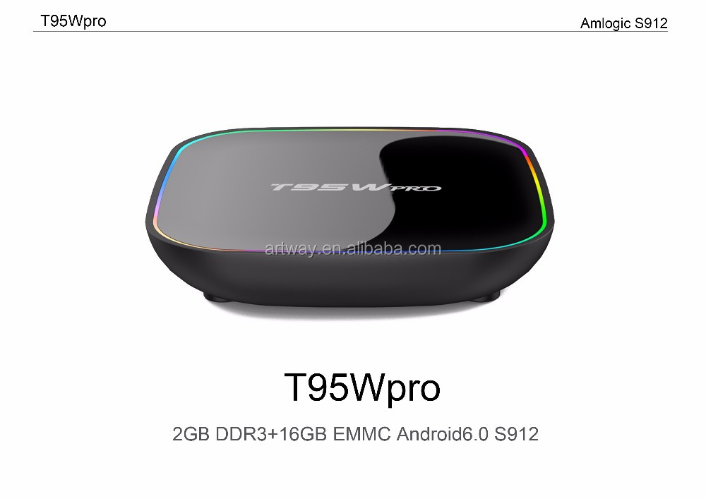 New Android TV Box T95Wpro+4K Android 6.0 2G/16G TV Box S912 Octa-core cortex-A53 Kodi 17.0 Wifi Bluetooth Gigabit Media Player
