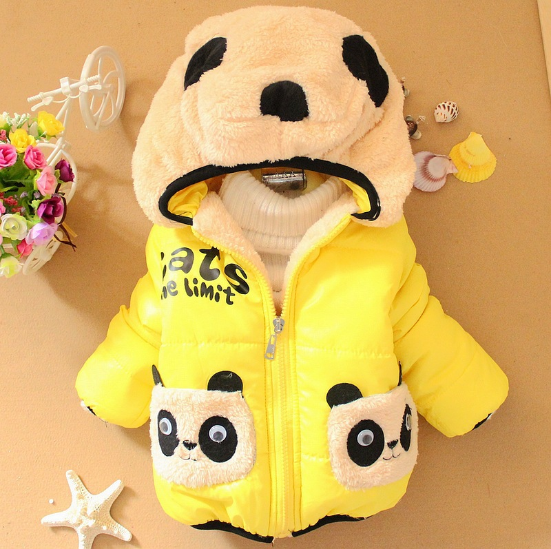 retail 1pc Children Clothing panda Cartoon Outwear Child Boy Winter Wear Thickening Outerwear Coat Kids cotton