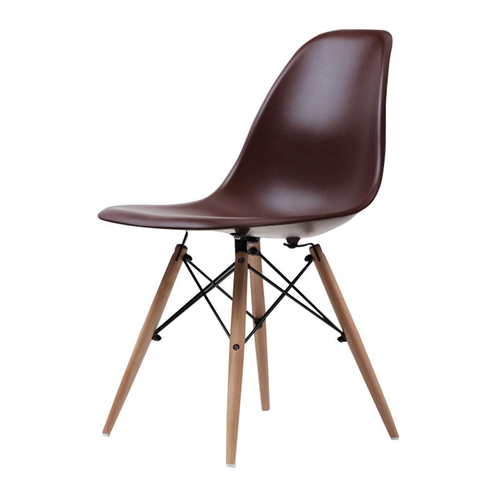 Wooden Chair Creative Office Stools Kitchen Dining Table Meeting Room Backrest Business Computer Chair Barstools,45x45x82cm,Brown