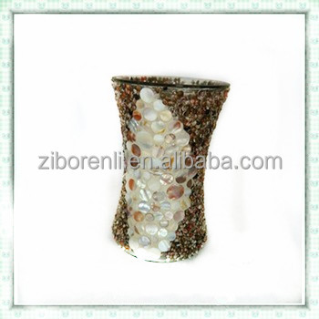 Table Decorative Tall Kaleidoscope Shape Mosaic Floor Vase Buy