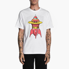 Wholesale China Promotional Organic Cotton Silk Screen Printing Printed Rocket Graphic T Shirt For Men