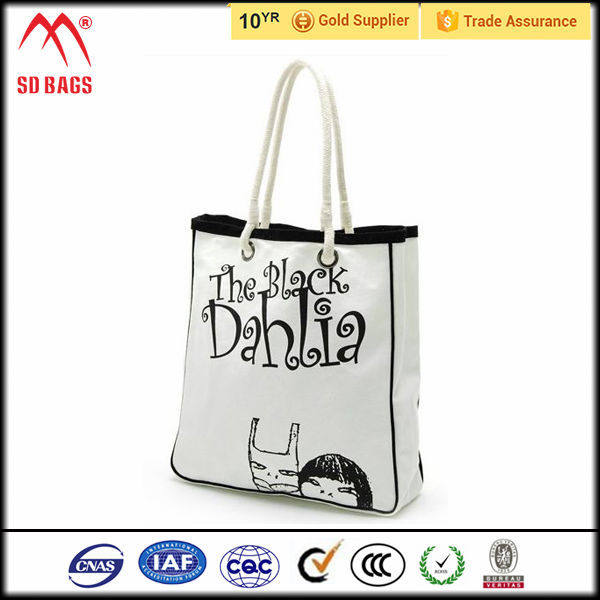 2015 Cheap reusable cotton shopping bag / foldable shopping bag