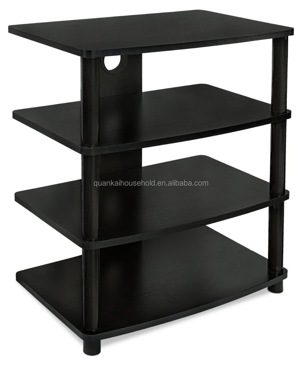 Video Component Stand TV Audio Stereo Cabinet Media Entertainment Center 4-Shelf